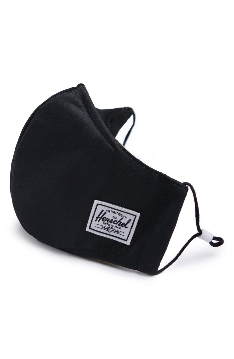 HERSCHEL SUPPLY CO. Fitted Face Mask, Main, color, BLACK