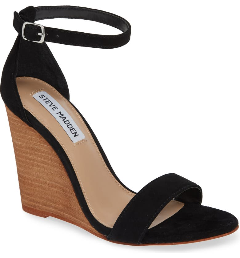 STEVE MADDEN Mary Ankle Strap Wedge, Main, color, 006