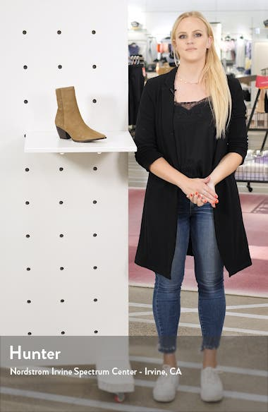 Caty Western Pointed Toe Bootie, sales video thumbnail