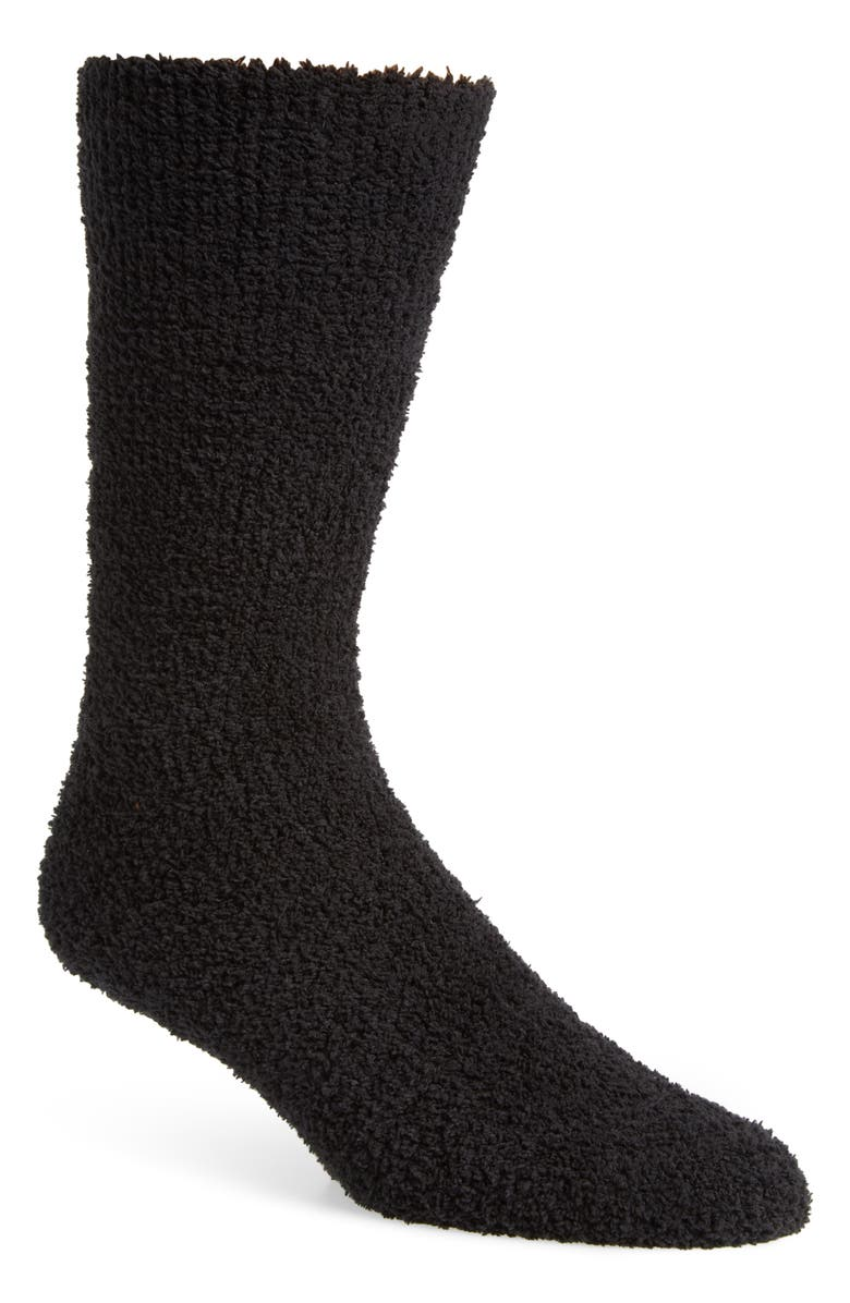 NORDSTROM Men's Shop Solid Butter Socks, Main, color, 001