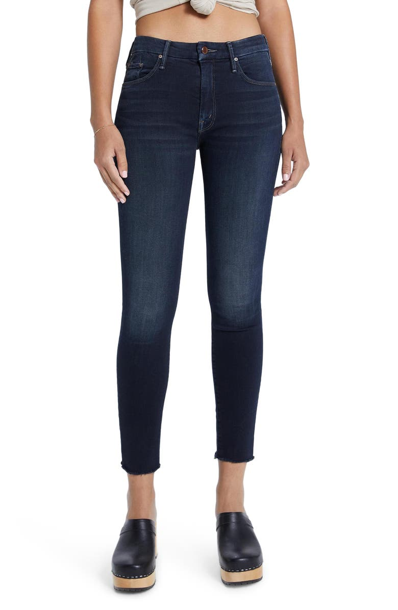 MOTHER Looker High Waist Ankle Skinny Jeans, Main, color, COFFEE TEA OR ME