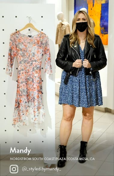 Long Flare Sleeve Cocktail Dress, sales video thumbnail