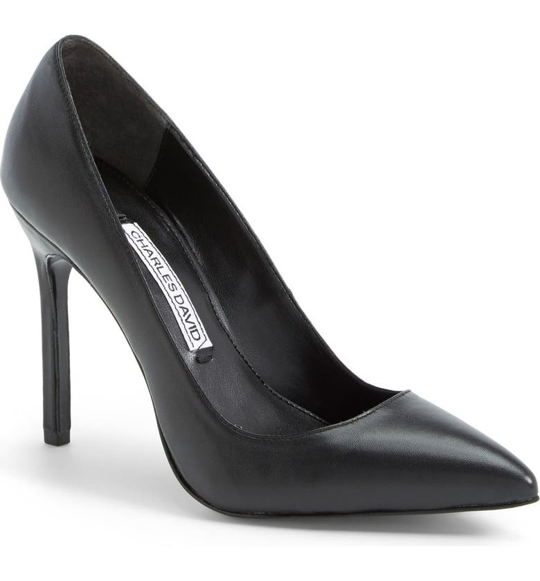 CHARLES DAVID 'Caterina' Pointy Toe Pump, Main, color, 001