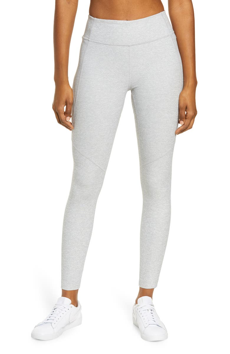 OUTDOOR VOICES Warm-Up Crop Leggings, Main, color, DOVE
