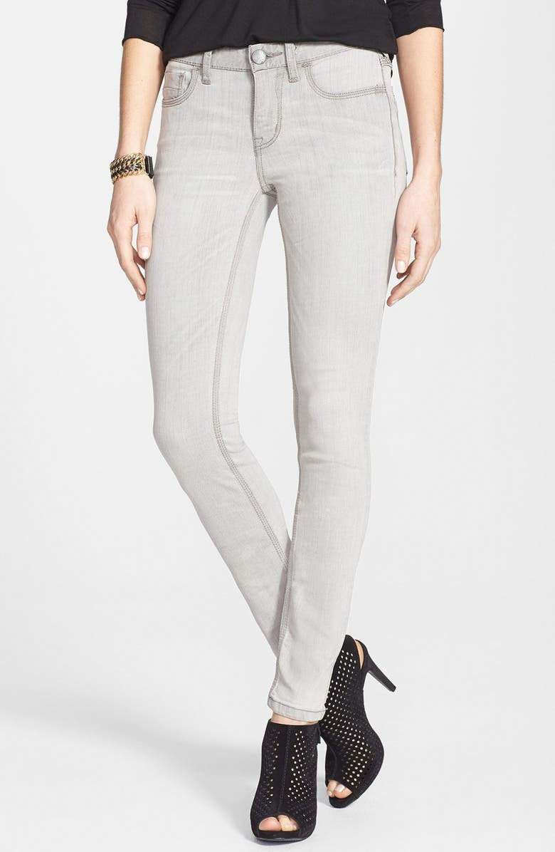 FREE PEOPLE Stretch Skinny Jeans, Main, color, CLOUDY GREY