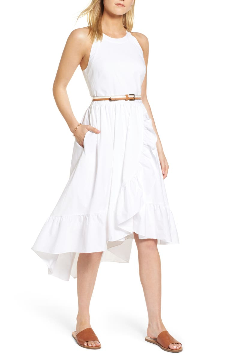 1901 Belted High/Low Dress, Main, color, 100