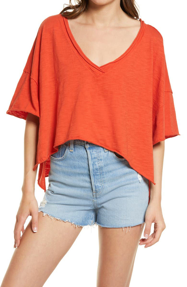 FREE PEOPLE We the Free by Free People Cally T-Shirt, Main, color, LOVER