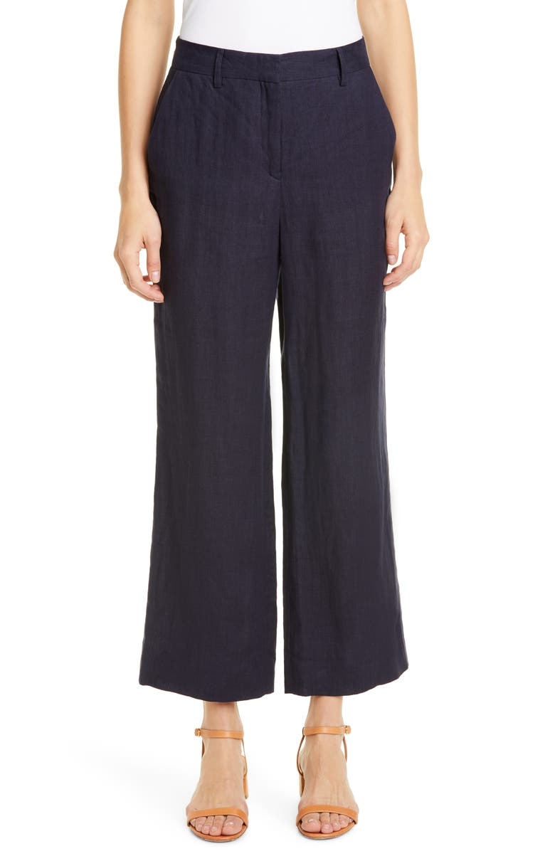 MANSUR GAVRIEL Linen Straight Leg Ankle Pants, Main, color, 460