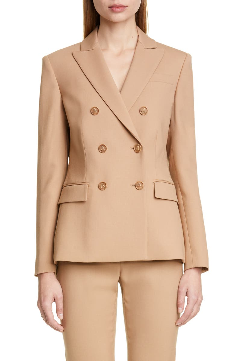 ALTUZARRA Double Breasted Stretch Wool Jacket, Main, color, 237