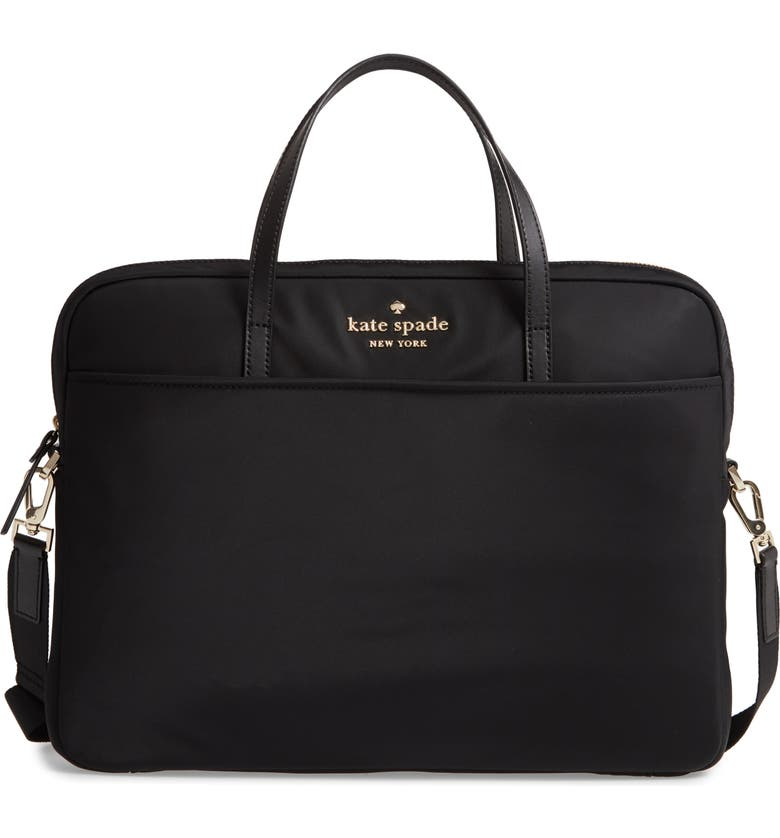 KATE SPADE NEW YORK uni slim laptop commuter bag, Main, color, 001