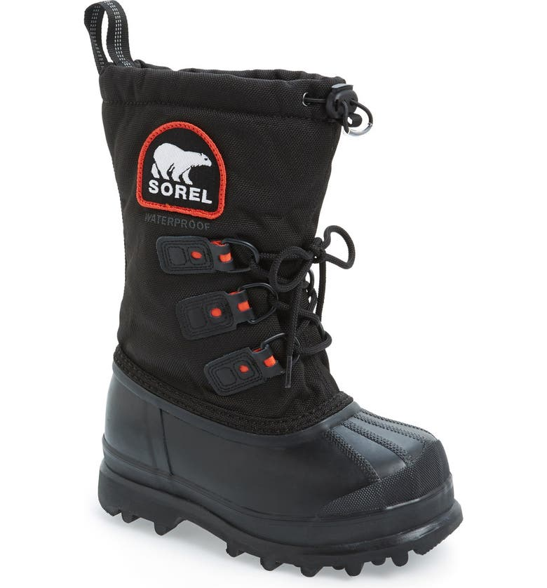 SOREL Glacier II Waterproof Snow Boot, Main, color, 010