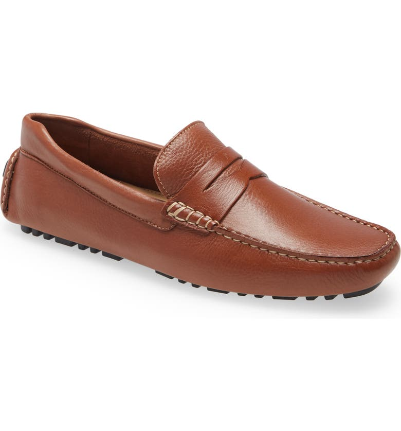 NORDSTROM Brody Driving Penny Loafer, Main, color, TAN LEATHER