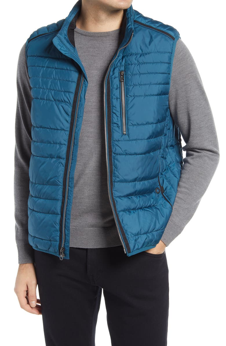 BUGATCHI Quilted Vest, Main, color, PEACOCK