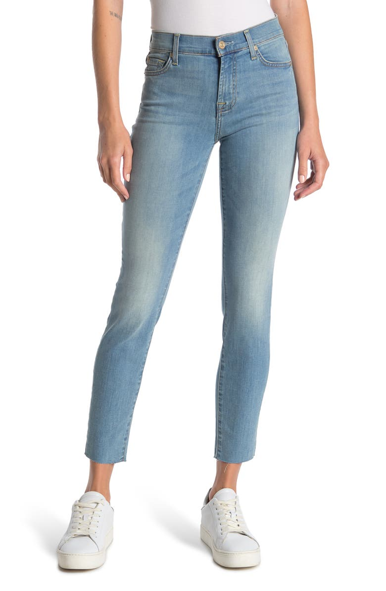 7 FOR ALL MANKIND Roxanne Ankle Crop Cutoff Skinny Jeans, Main, color, BROOKS