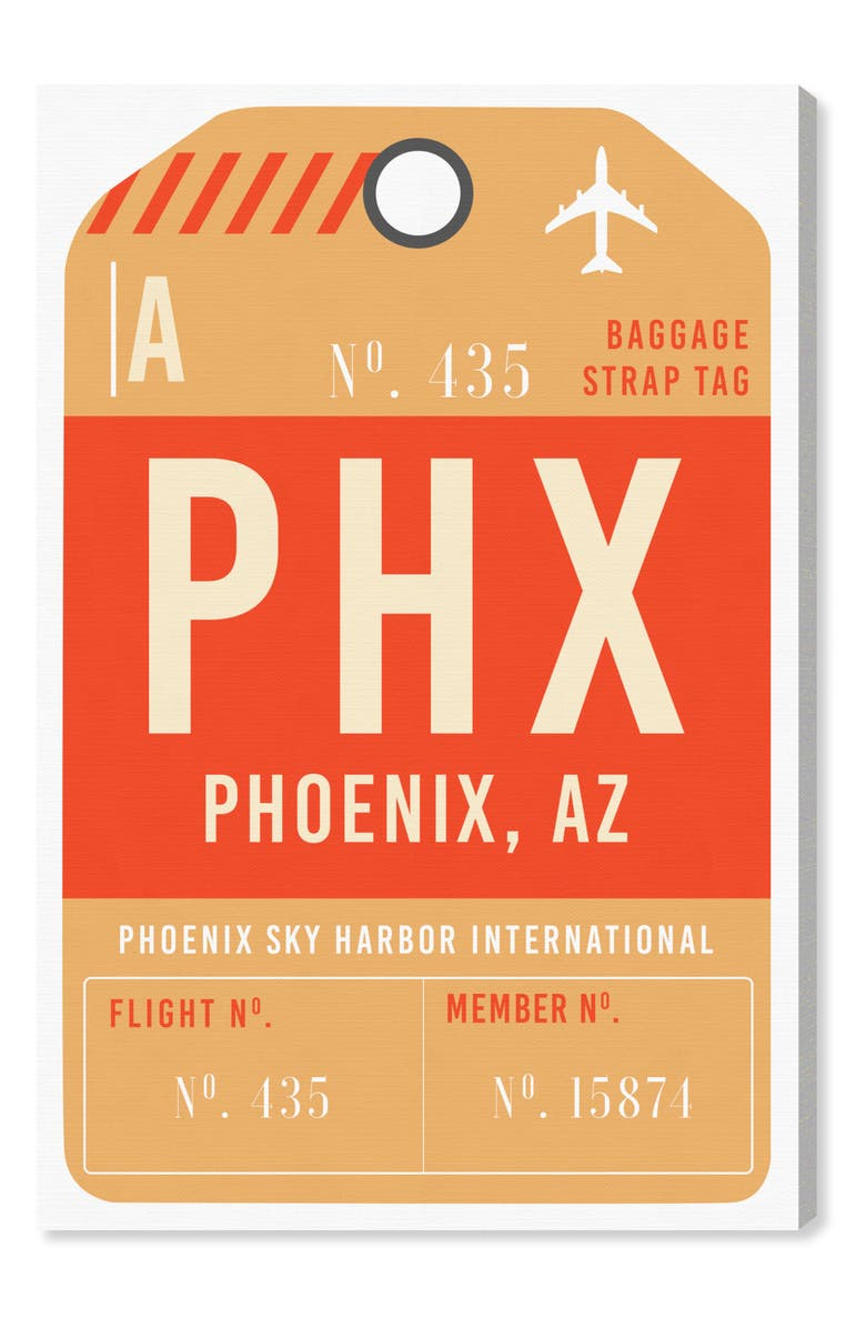 OLIVER GAL Phoenix Luggage Tag Wall Art, Main, color, 800