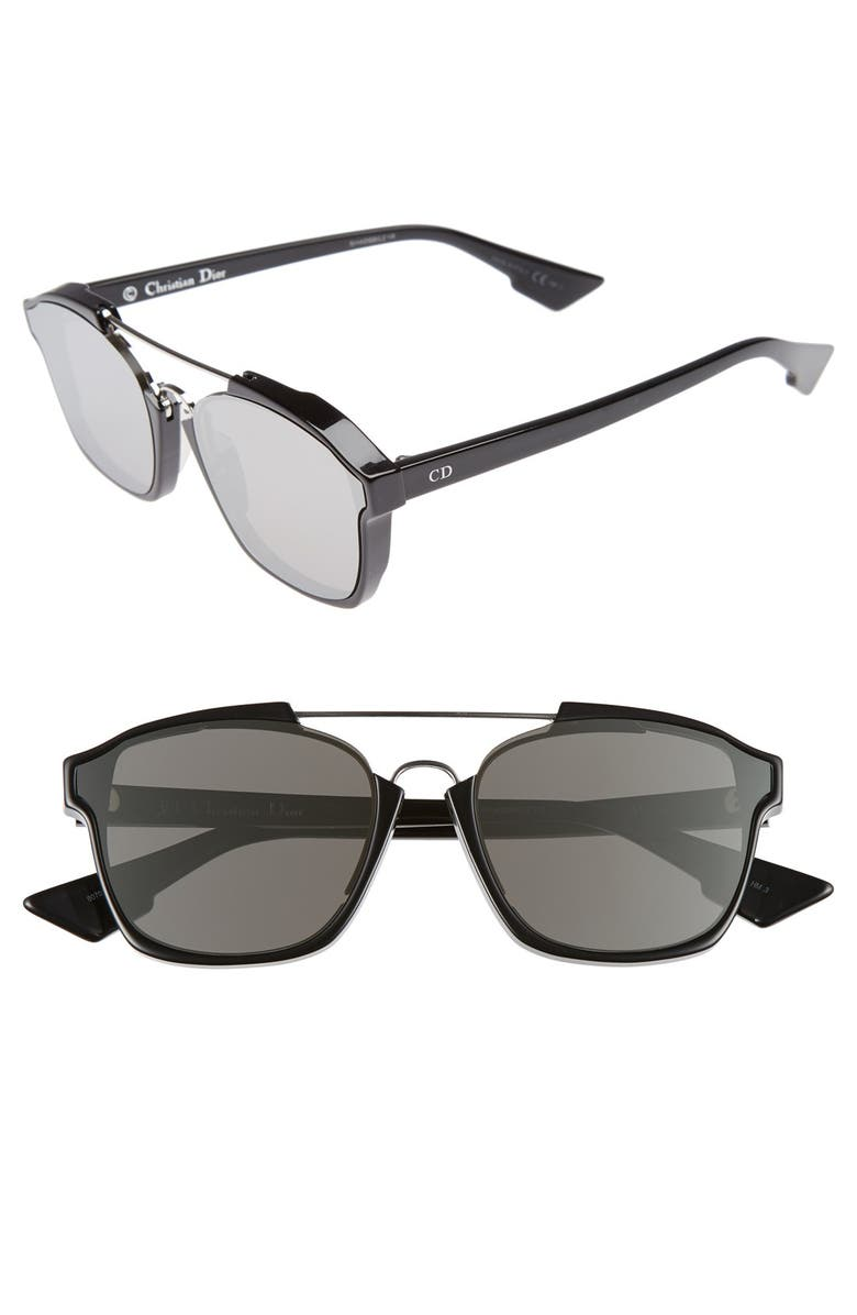 DIOR Abstract 58mm Brow Bar Sunglasses, Main, color, 002