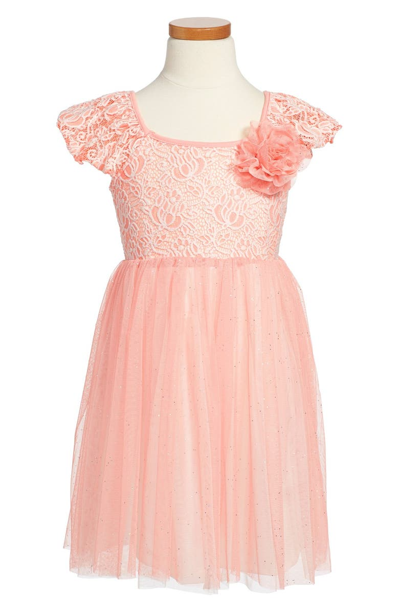 POPATU Tulle Skirt Party Dress, Main, color, PINK
