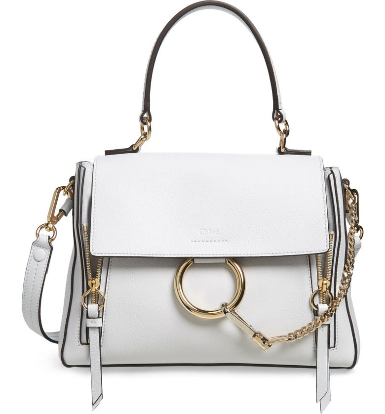CHLOÉ Small Faye Day Leather Shoulder Bag, Main, color, 107