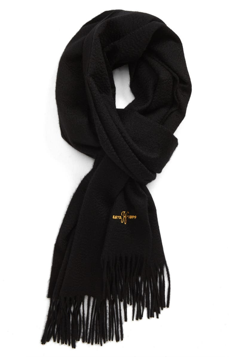 HICKEY FREEMAN Cashmere Solid Scarf, Main, color, 001