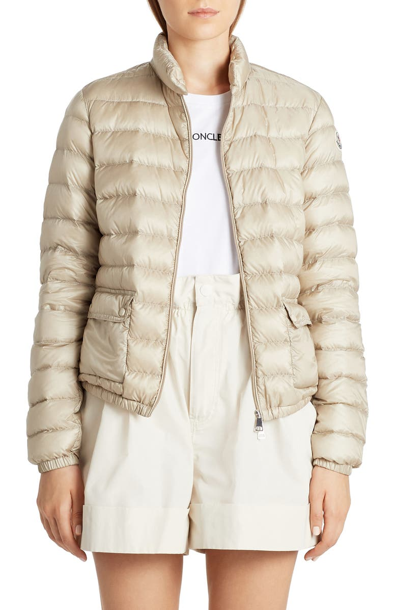 MONCLER Lans Down Puffer Jacket, Main, color, CHAMPAGNE