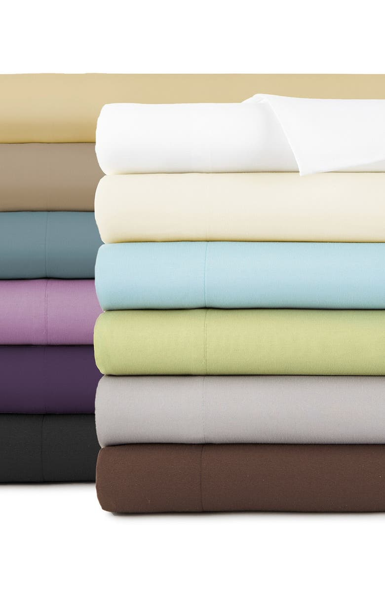 SOUTHSHORE FINE LINENS Queen Sized Vilano Springs Extra Deep Pocket Sheet Set - Bright White, Main, color, BRIGHT WHITE