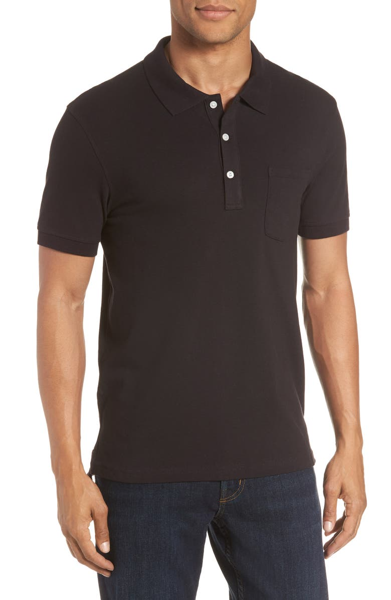 J.CREW Stretch Cotton Polo Shirt, Main, color, 001