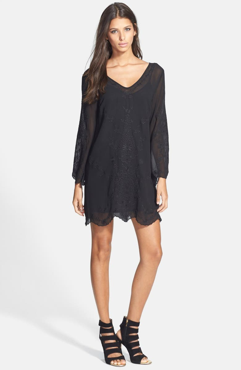 ASTR THE LABEL ASTR Bell Sleeve Shift Dress, Main, color, 001