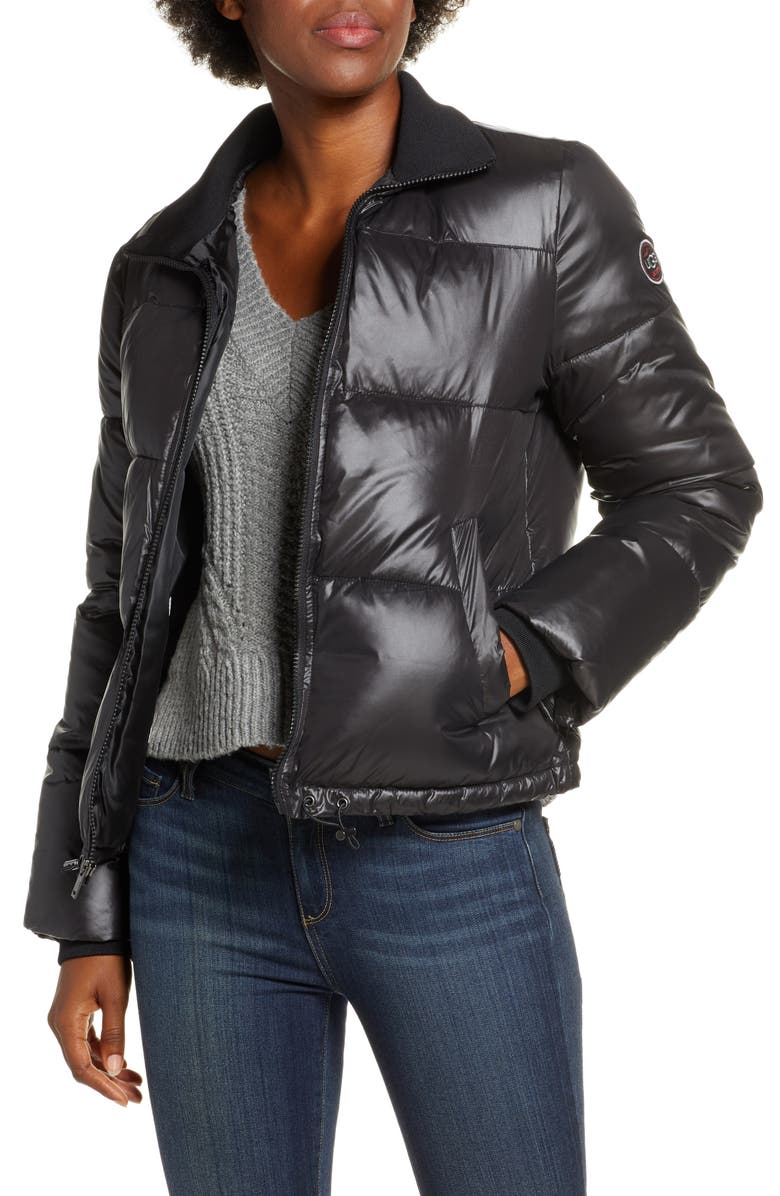 UGG<SUP>®</SUP> Izzie Water Repellent Puffer Jacket, Main, color, BLACK