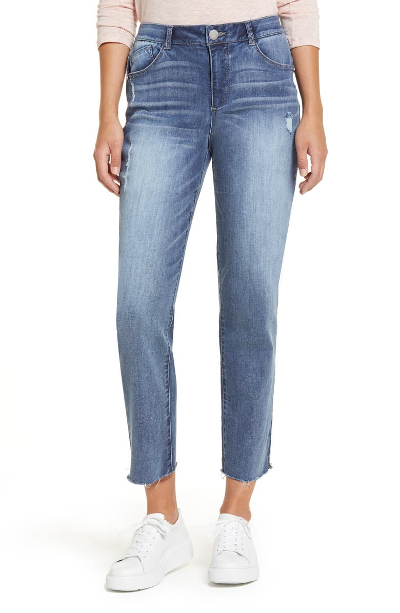 WIT & WISDOM Luxe Touch Ab-Solution High Waist Vintage Skinny Crop Jeans, Main, color, 420