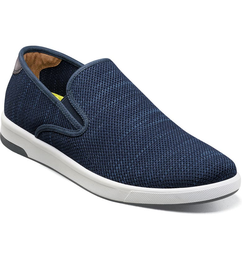 FLORSHEIM Crossover Slip-On Sneaker, Main, color, NAVY KNIT