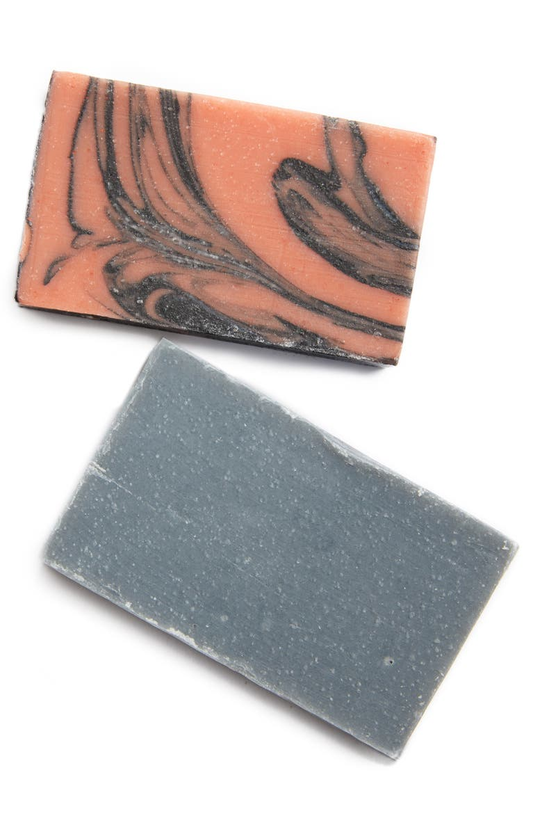 PACKAGE FREE Rose Charcoal Face Soap Bar & Charcoal Soap Bar Set, Main, color, 800
