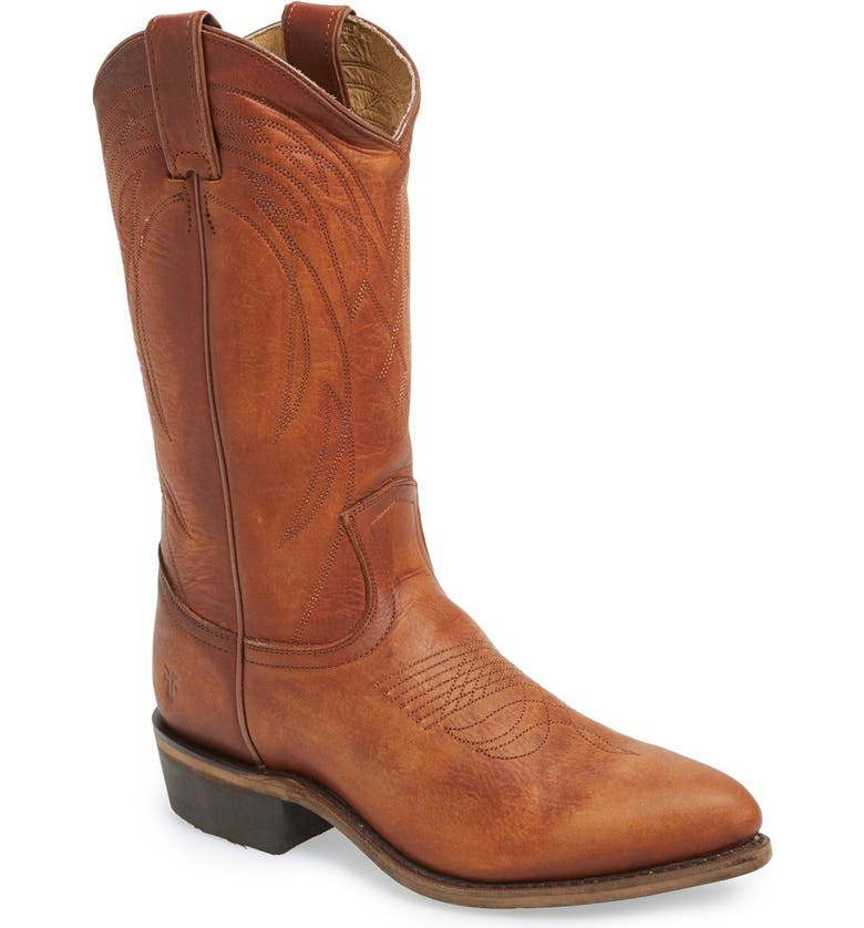 FRYE 'Billy' Western Boot, Main, color, COGNAC LEATHER