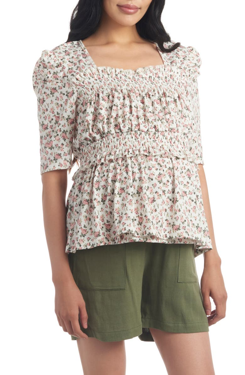 EVERLY GREY Tracey Maternity/Nursing Top, Main, color, IVORY FLORAL
