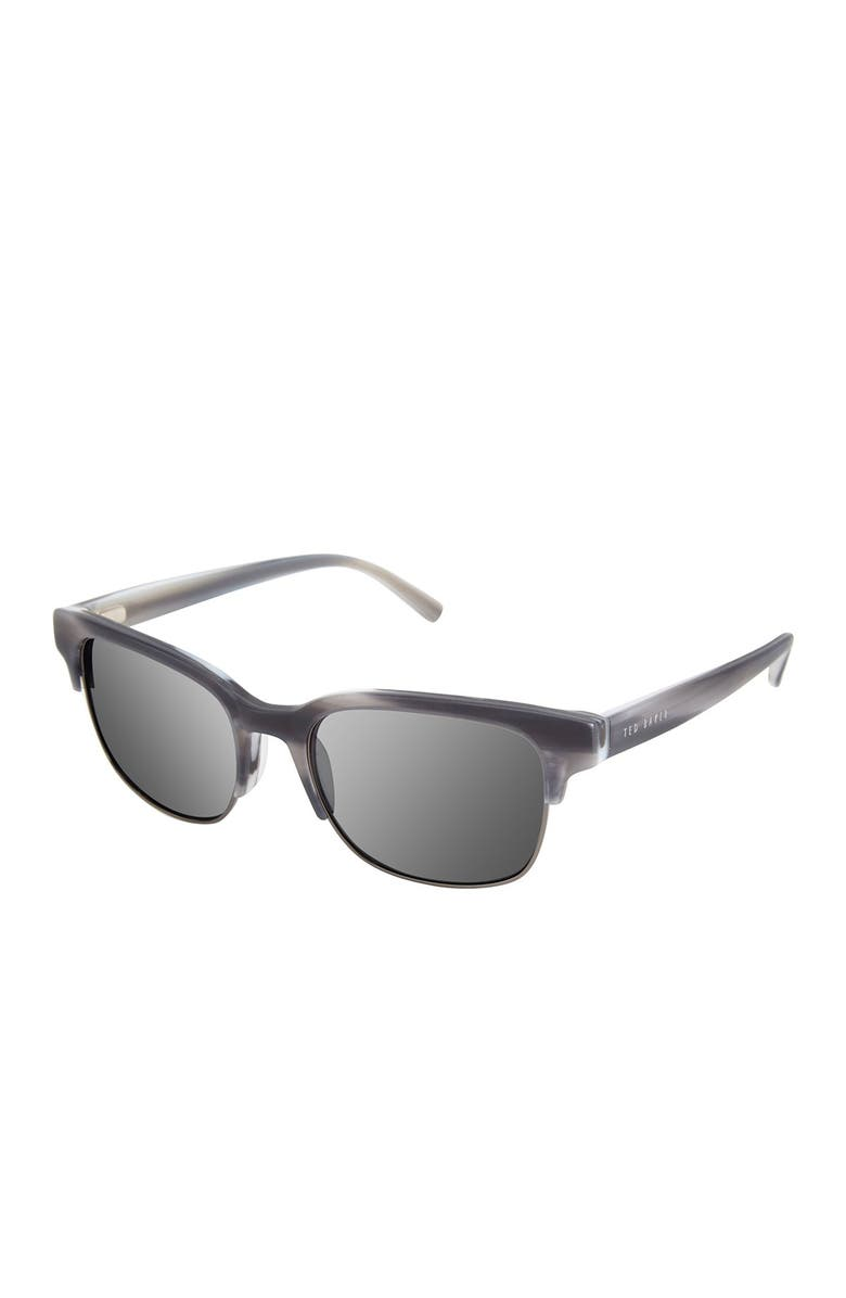TED BAKER LONDON 54mm Square Sunglasses, Main, color, GREY