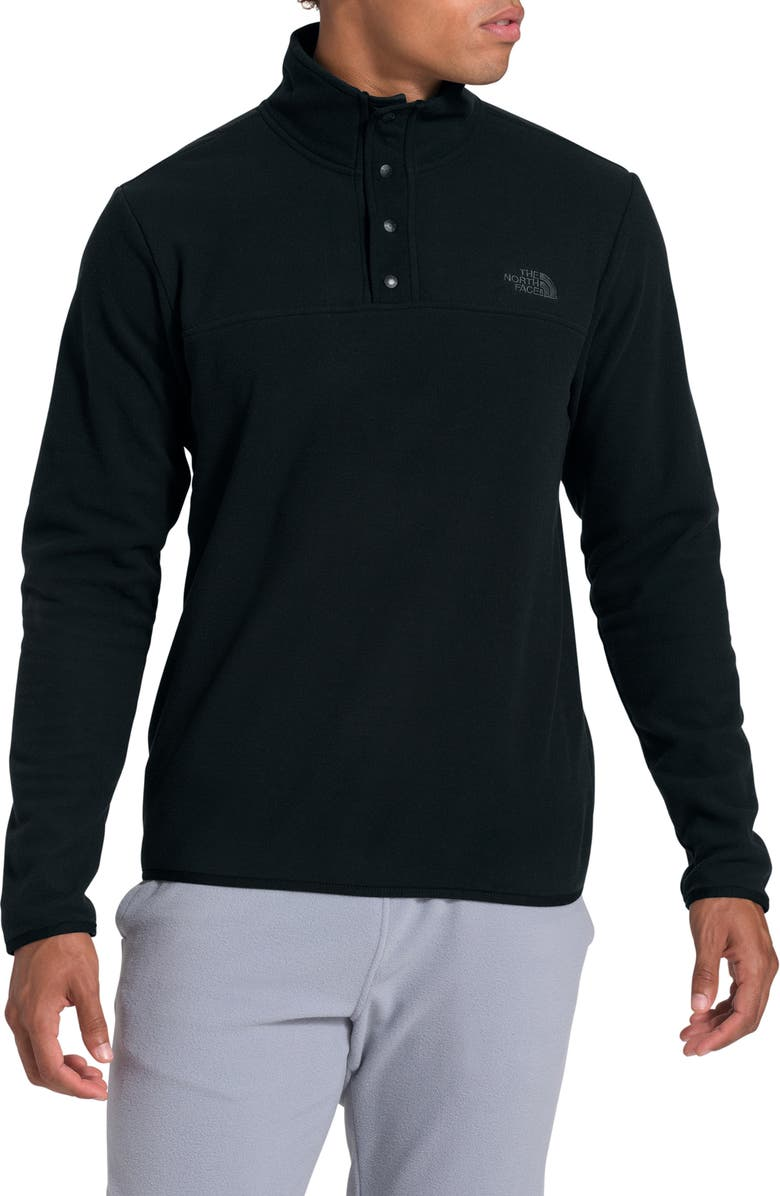 THE NORTH FACE TKA Glacier Snap Neck Pullover, Main, color, TNF BLACK/ TNF BLACK