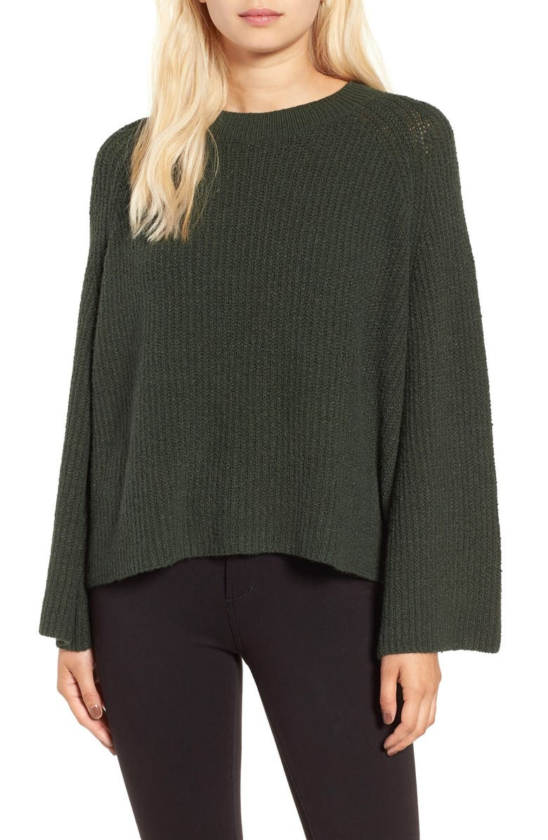 BP. Knit Bell Sleeve Pullover, Main, color, 301