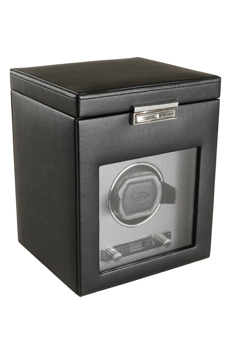 WOLF Viceroy Watch Winder & Storage Space, Main, color, BLACK