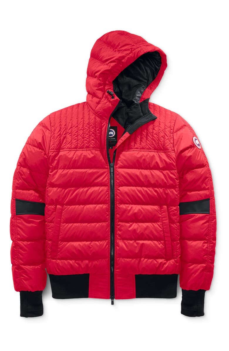 CANADA GOOSE Cabri Hooded Packable Down Jacket, Main, color, RED