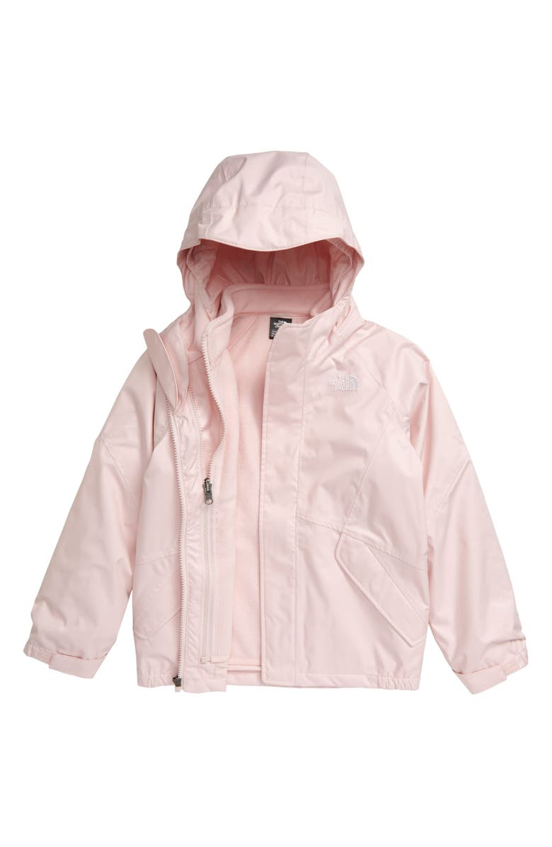THE NORTH FACE Kira Triclimate<sup>®</sup> Waterproof 3-in-1 Jacket, Main, color, PURDY PINK