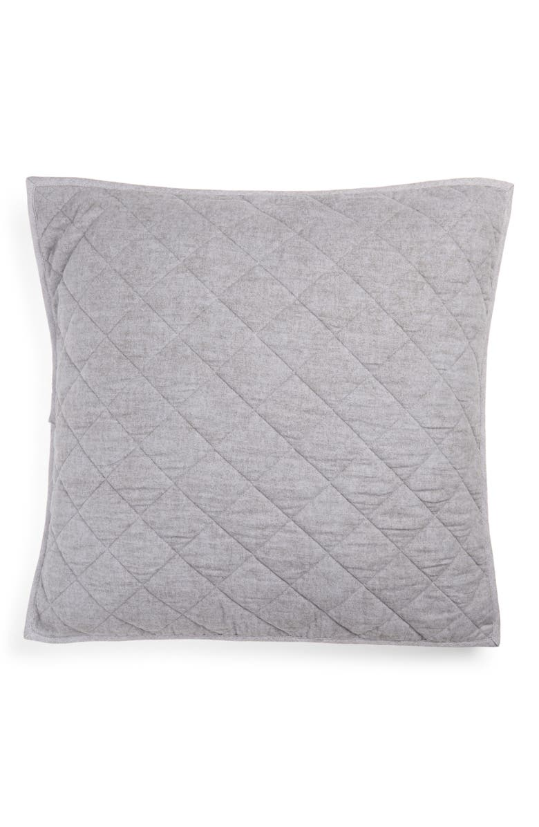 NORDSTROM Flannel Reversible Quilted Pillow Sham, Main, color, 020