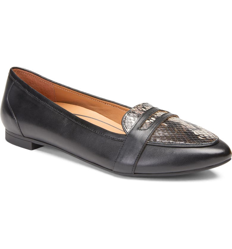 VIONIC Savannah Flat, Main, color, BLACK/ BLACK LEATHER