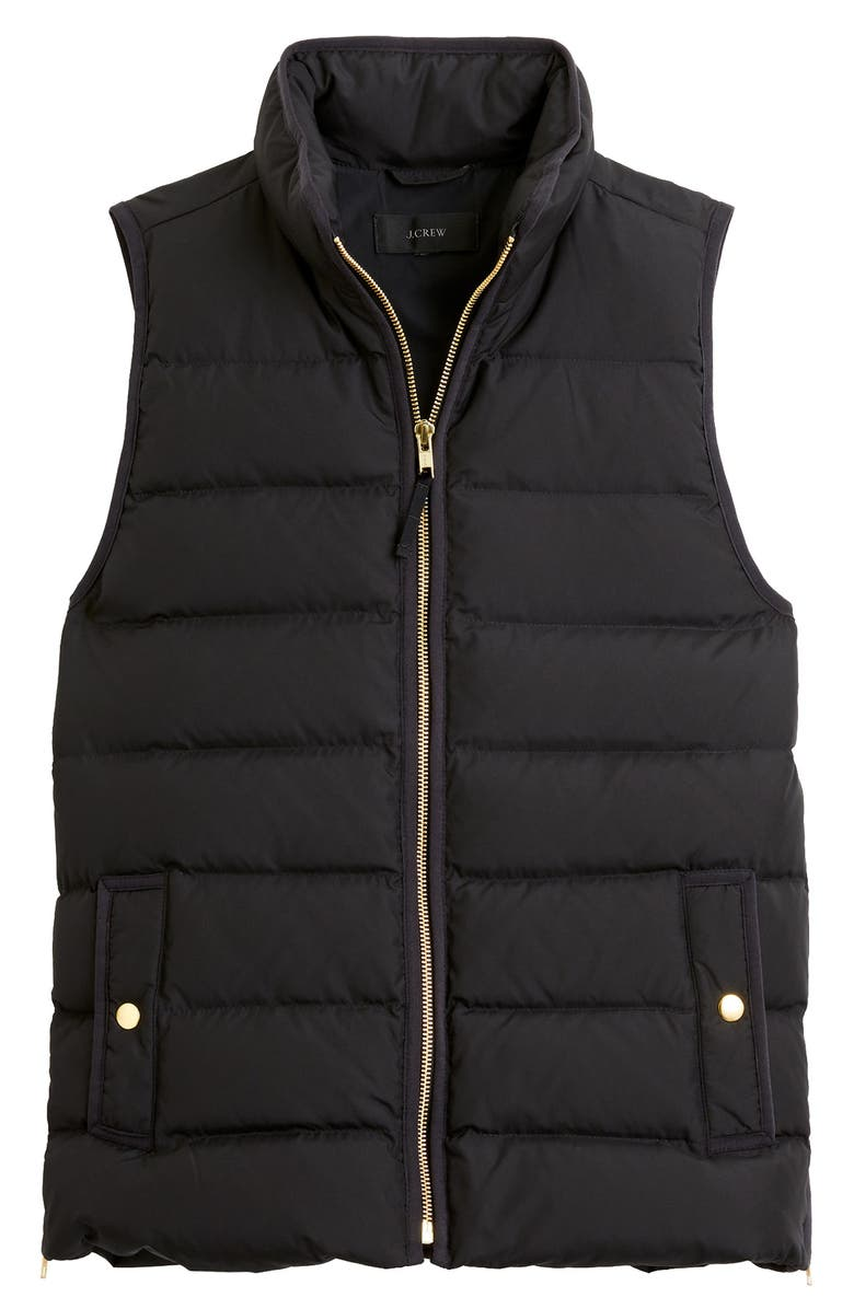 J.CREW Anthem Down & Feather Fill Puffer Vest, Main, color, 001