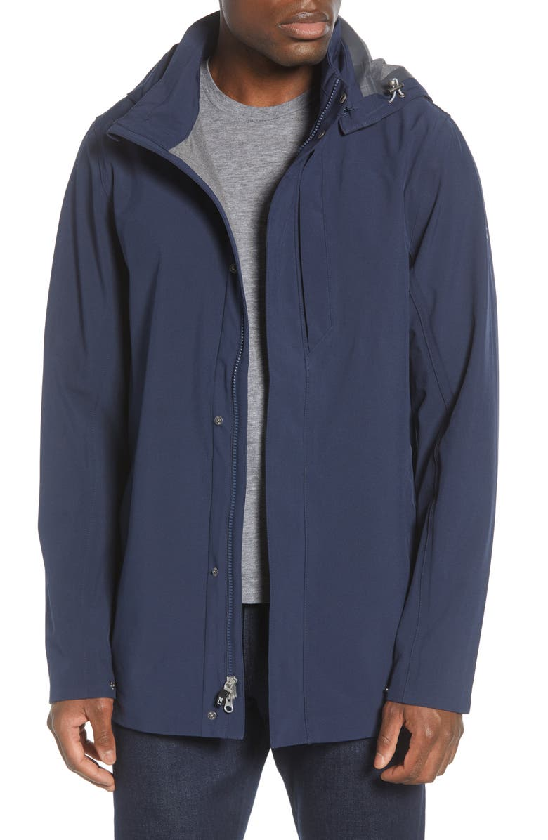 CUTTER & BUCK Shield Hooded Jacket, Main, color, ADMIRAL