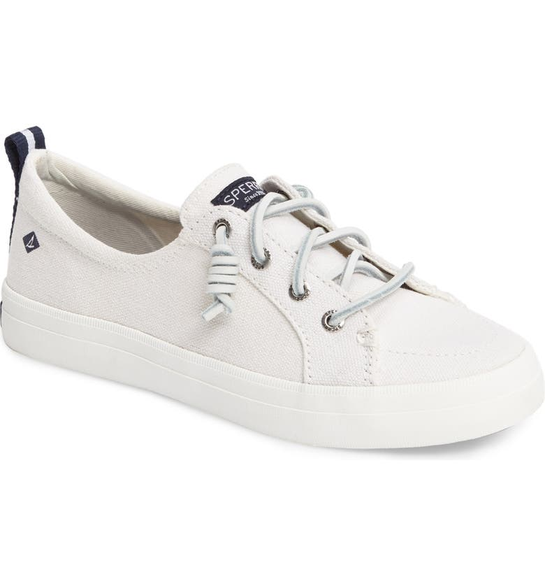 SPERRY Crest Vibe Slip-On Sneaker, Main, color, WHITE CANVAS