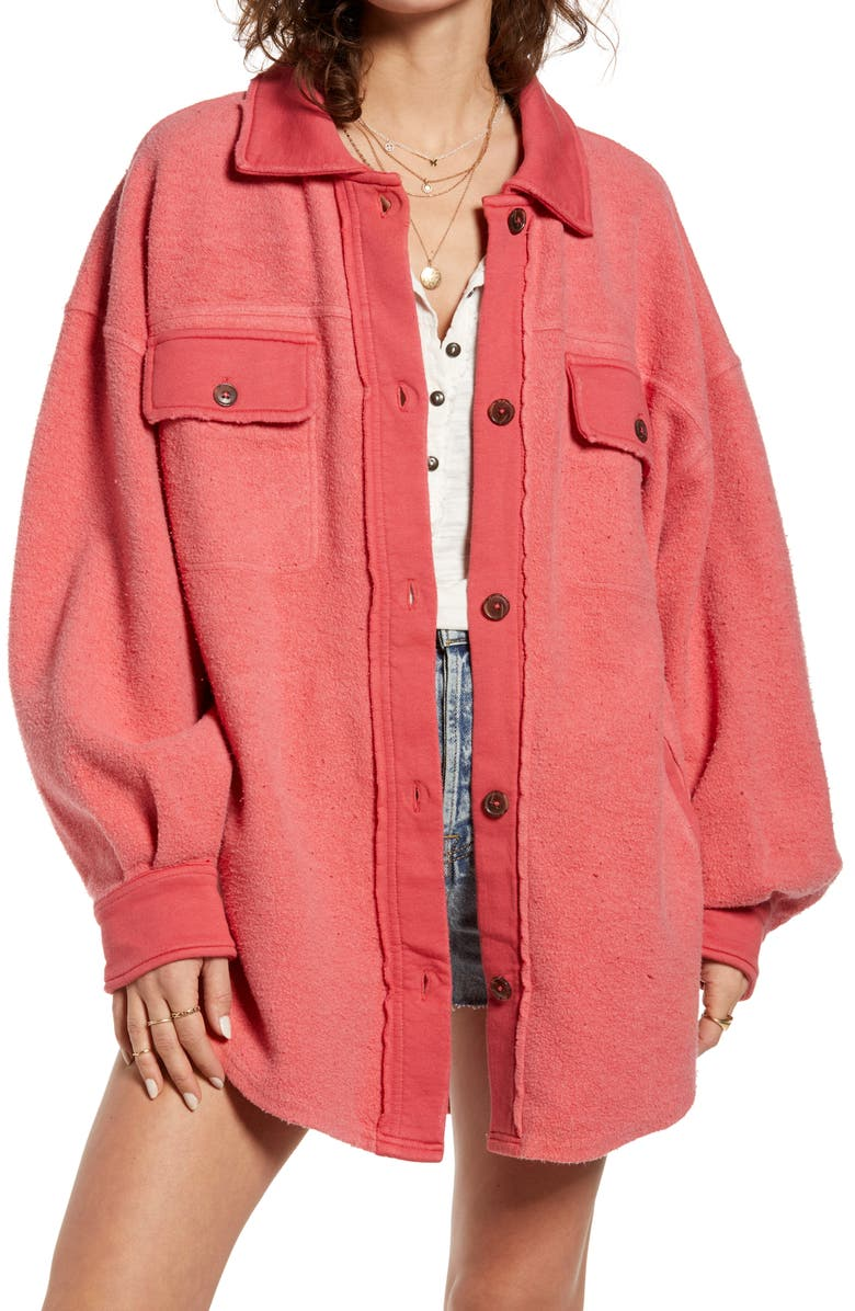FREE PEOPLE Ruby Jacket, Main, color, RED