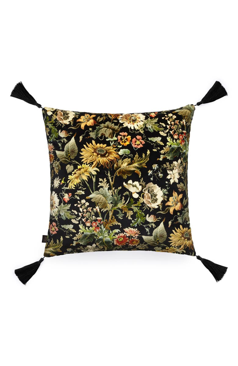 HOUSE OF HACKNEY Avalon Floral Velveteen Accent Pillow, Main, color, 001