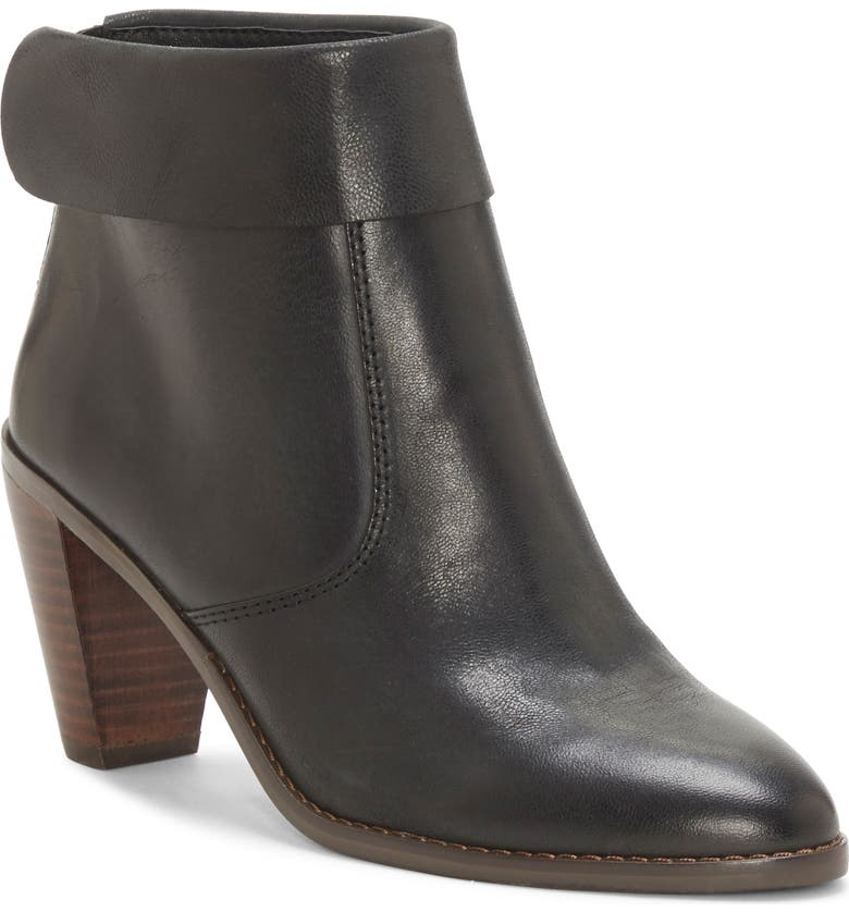 LUCKY BRAND Nycott Leather Bootie, Main, color, 001