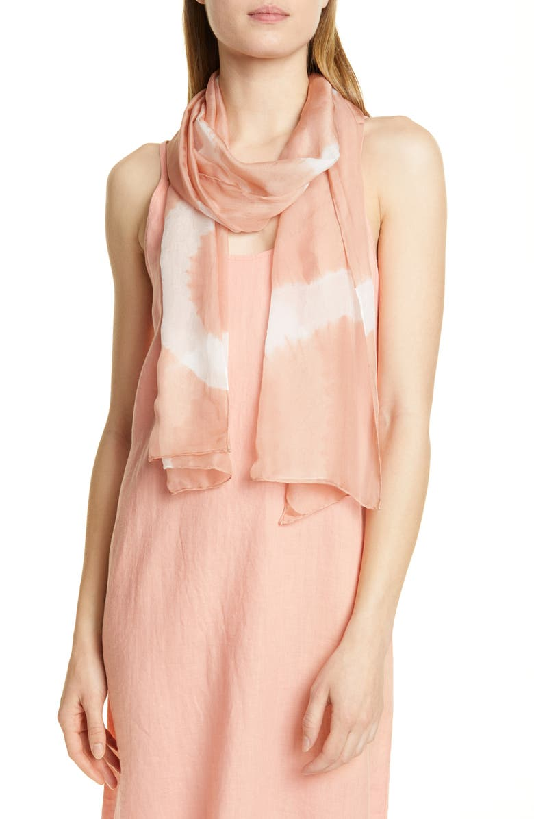 EILEEN FISHER Silk Scarf, Main, color, TOFFEE CREAM