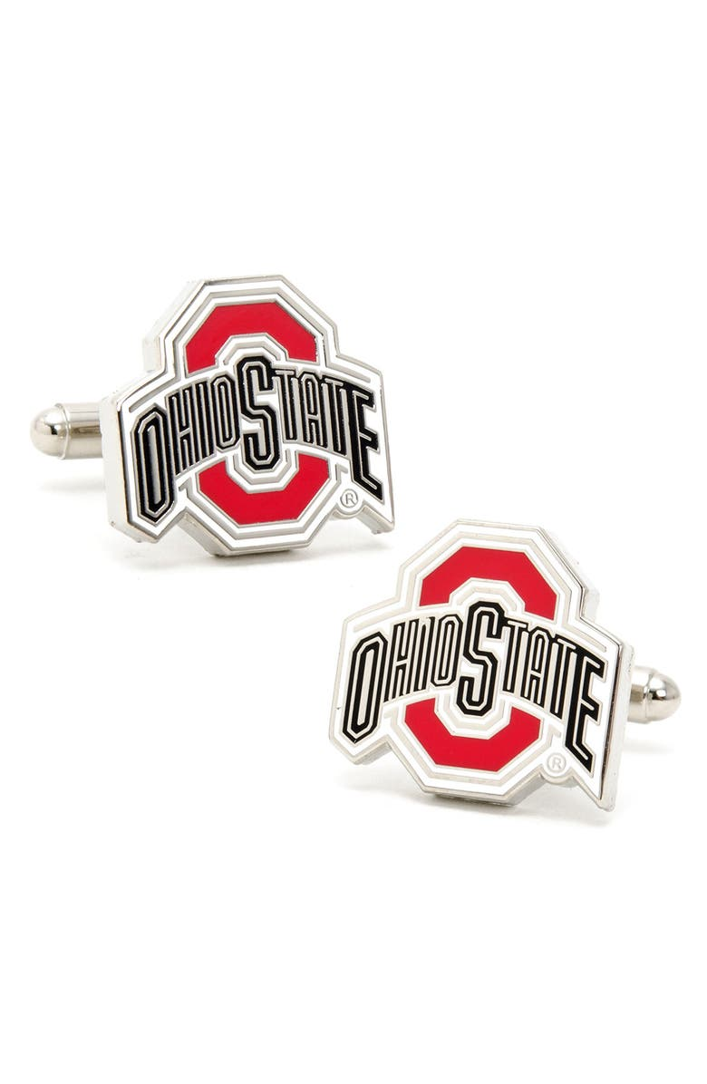 CUFFLINKS, INC. 'Ohio State Buckeyes' Cuff Links, Main, color, RED/ BLACK/ WHITE