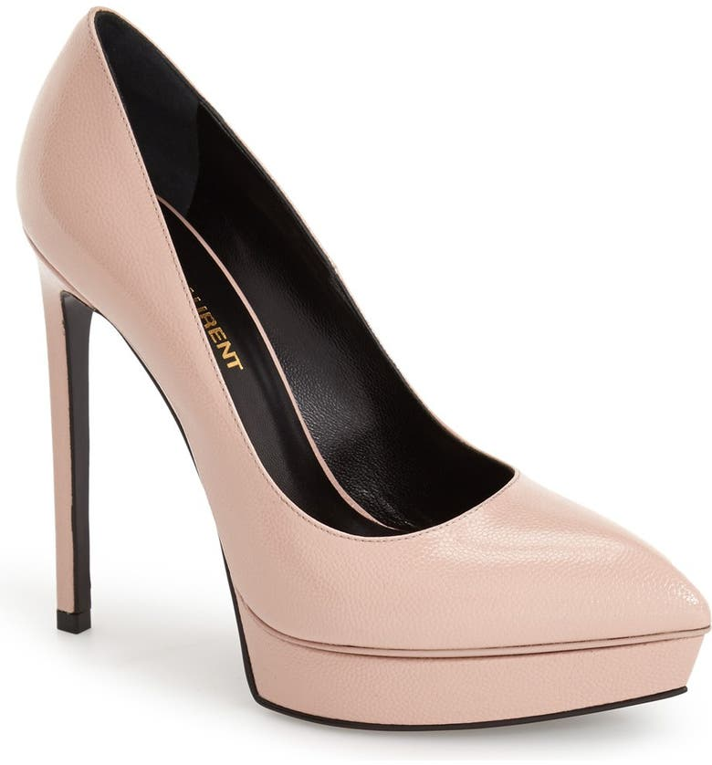 SAINT LAURENT 'Janis' Pointy Toe Platform Pump, Main, color, 683